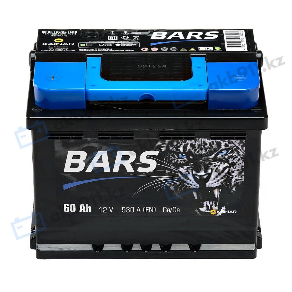 Автомобильный аккумулятор BARS (Барс) 6СТ-60 АПЗ 60Ah в Алматы