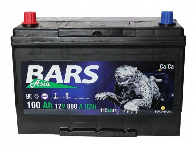 Автомобильный аккумулятор BARS (Барс) ASIA 6СТ-100 АПЗ 100Ah