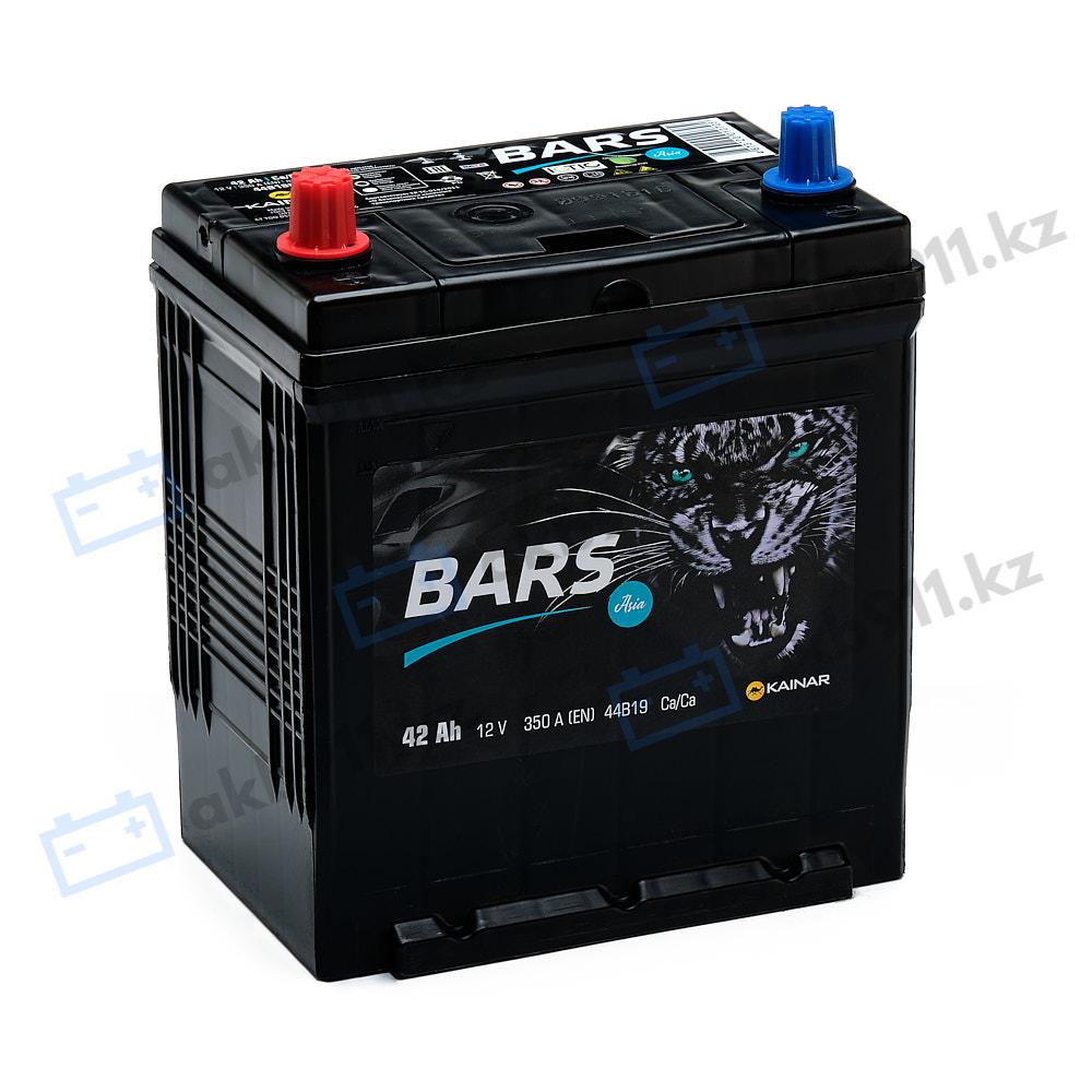 Автомобильный аккумулятор BARS (Барс) ASIA 6СТ-42 АПЗ 42Ah