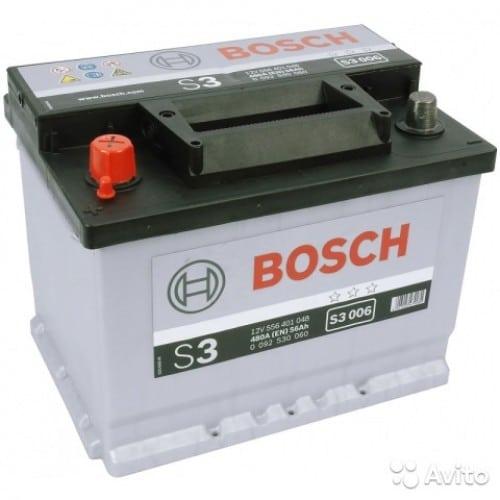 Автомобильный аккумулятор BOSCH (Бош) S3 006 56Ah 556401