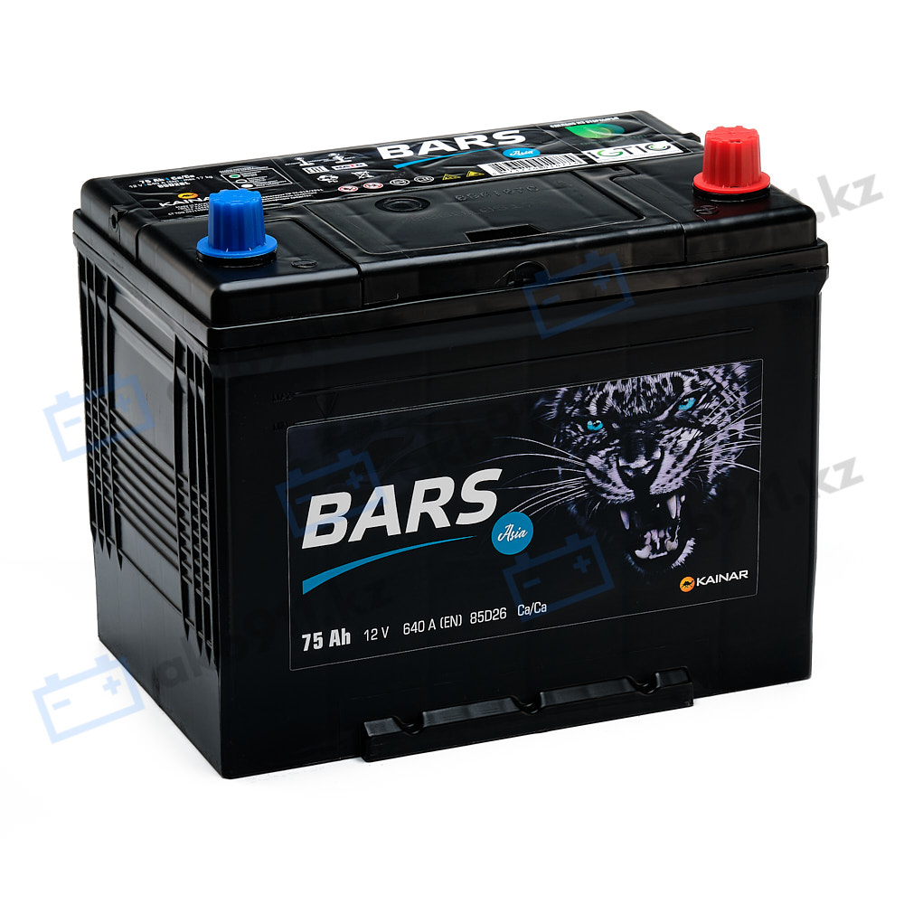 Автомобильный аккумулятор BARS (Барс) ASIA 6СТ-75 АПЗ 75Ah
