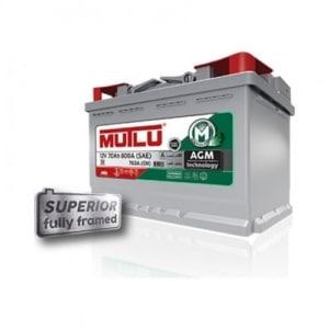 Автомобильный аккумулятор MUTLU (Mутлу) 70 Ah AGM.L3.70.076.A