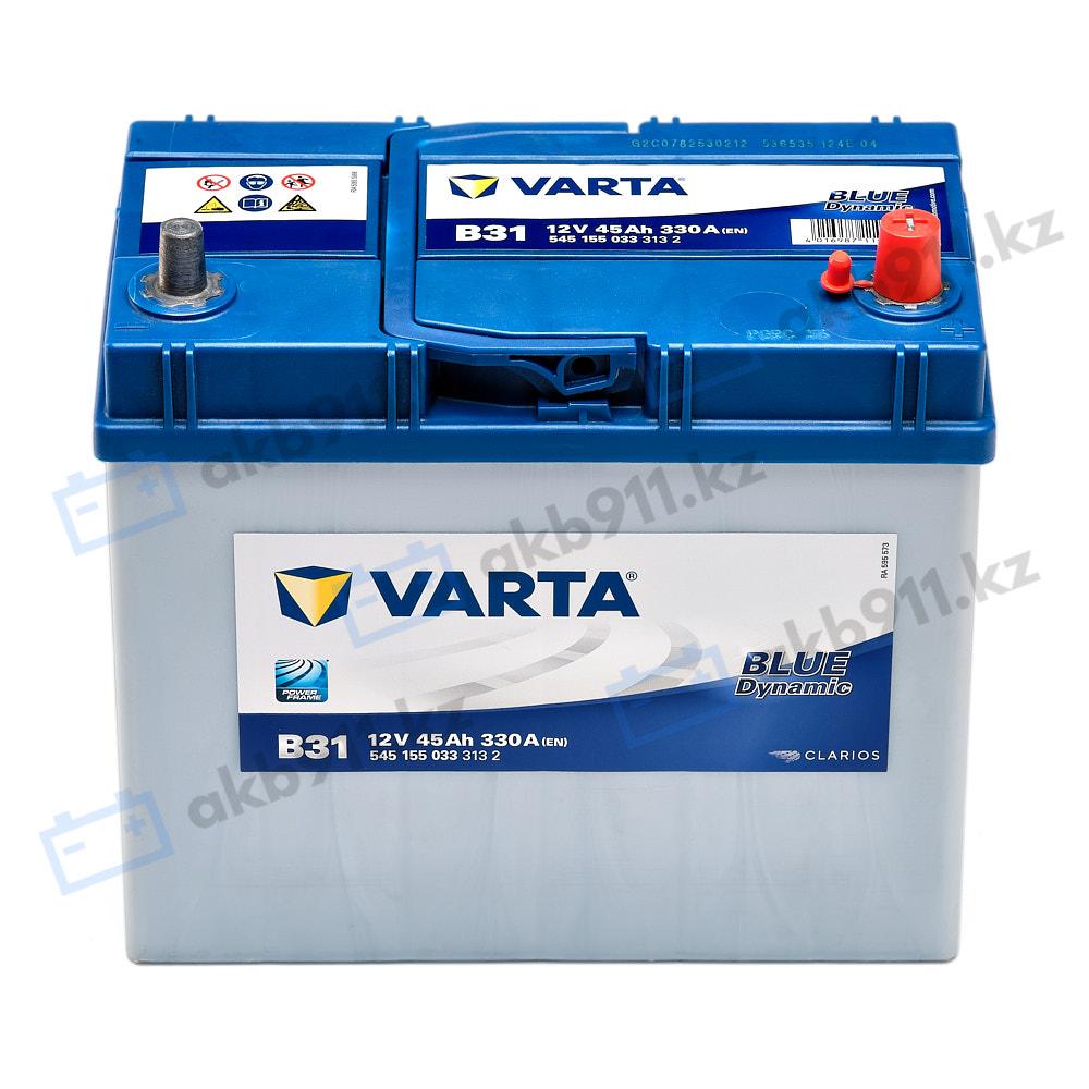 Автомобильный аккумулятор VARTA (Варта) B31 BLUE DYNAMIC 45Ah 54555-07 в Алматы