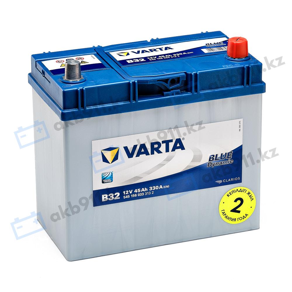 Автомобильный аккумулятор VARTA (Варта) B32 BLUE DYNAMIC 45Ah BD 545 156 033