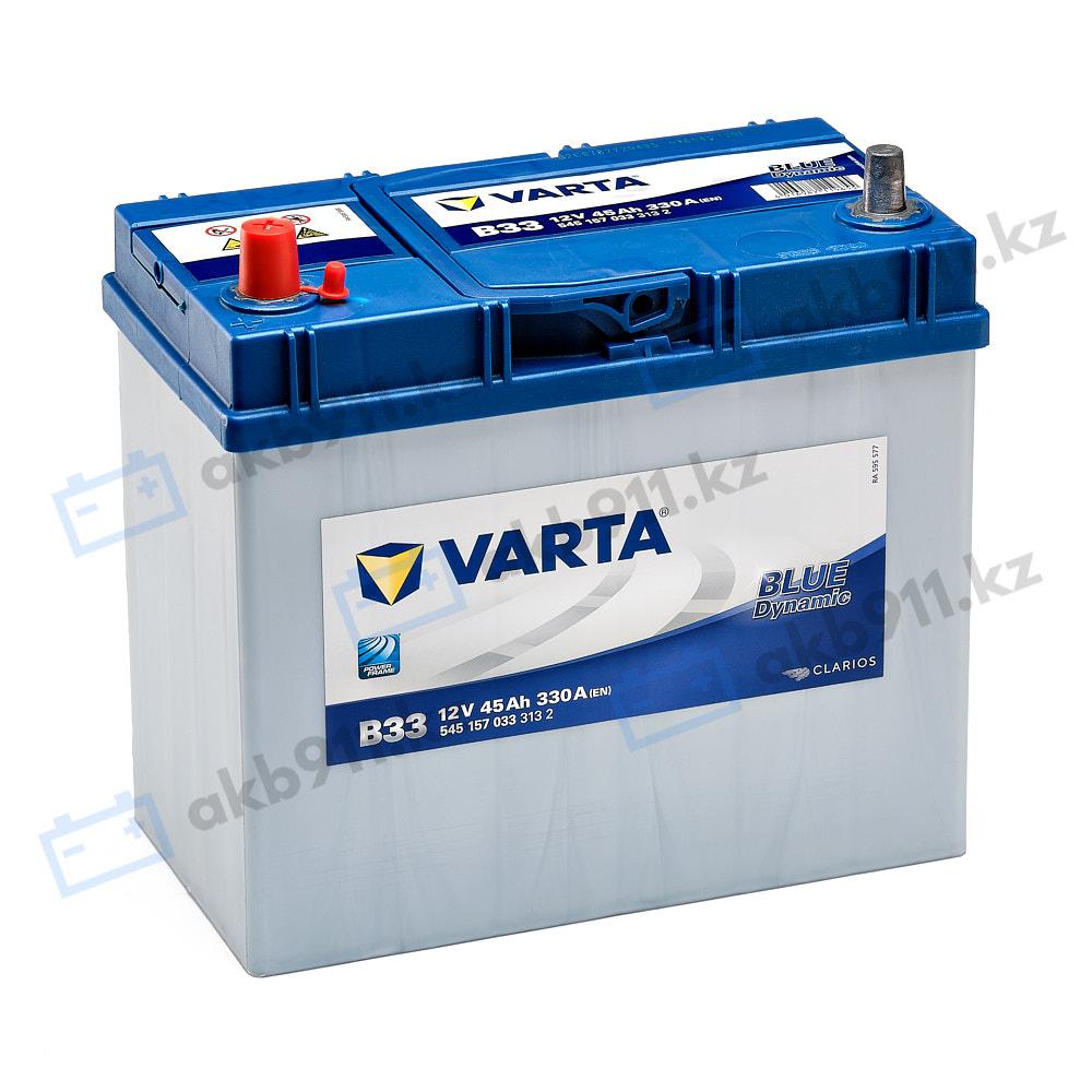 Автомобильный аккумулятор VARTA (Варта) B33 BLUE DYNAMIC 45 Ah BD 545 157 033