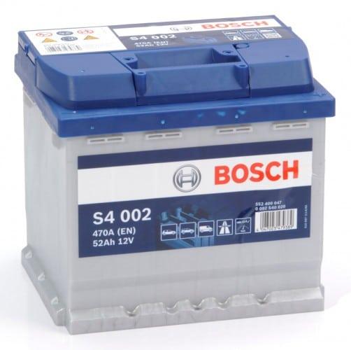 Автомобильный аккумулятор BOSCH (Бош) S4 002 52Ah 552400