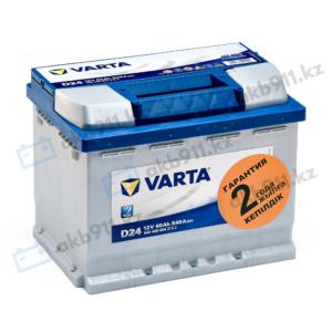 Автомобильный аккумулятор VARTA (Варта) D24 BLUE DYNAMIC 60Ah 56008-07