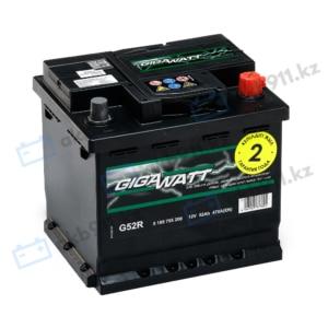Автомобильный аккумулятор GIGAWATT (Гигаватт) 52 Ah 552400 G52R
