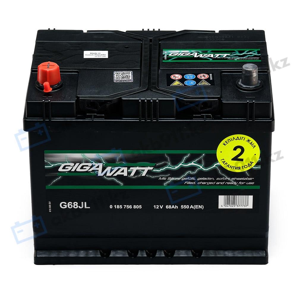 Автомобильный аккумулятор GIGAWATT (Гигаватт) 68 Ah 568405 G68JL в Алматы