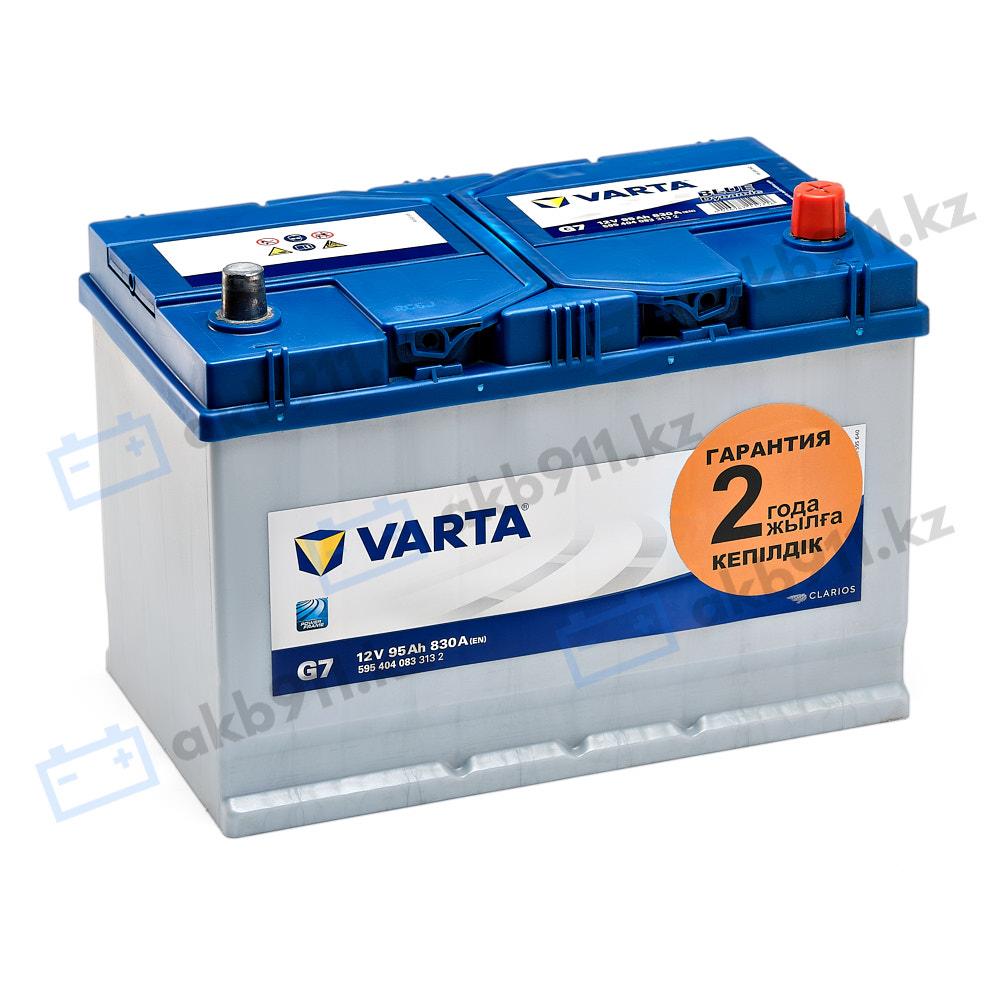Автомобильный аккумулятор VARTA (Варта) G7 BLUE DYNAMIC 95 Ah 59504-07