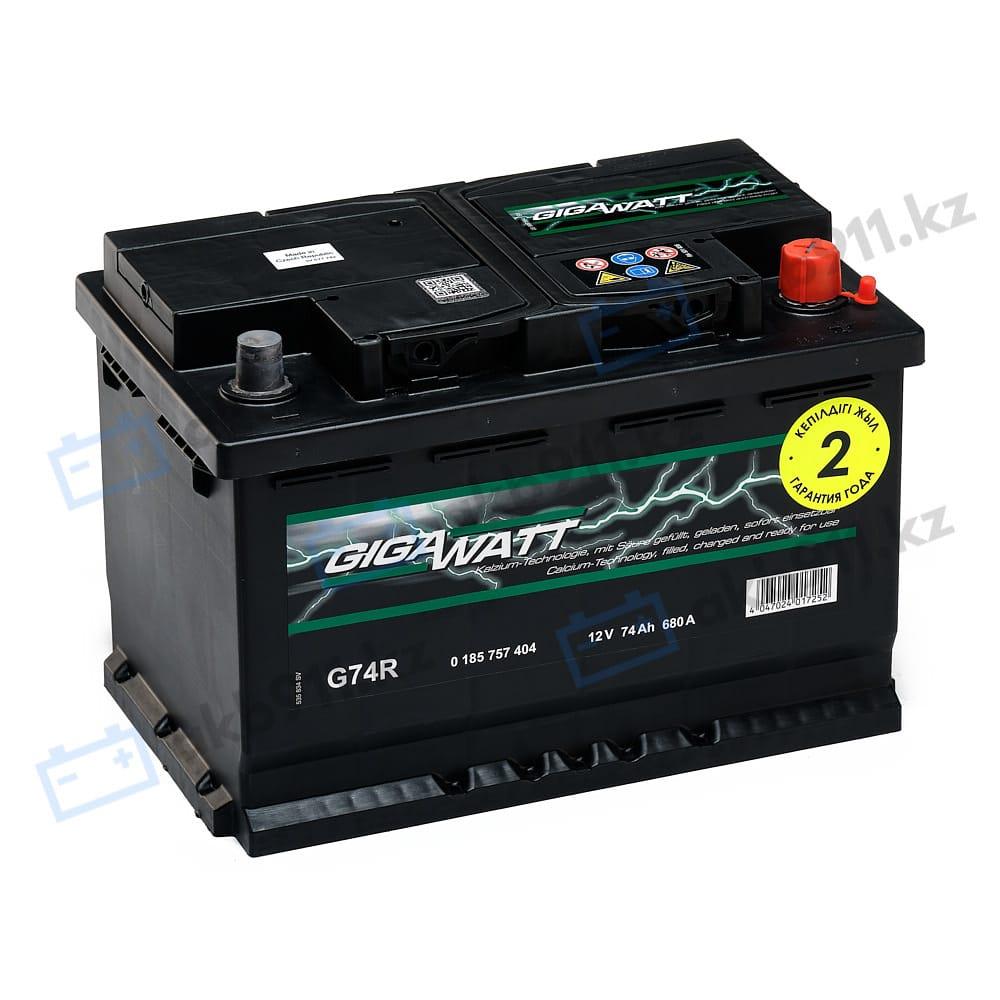 Автомобильный аккумулятор GIGAWATT (Гигаватт) 74 Ah 574104 G74R