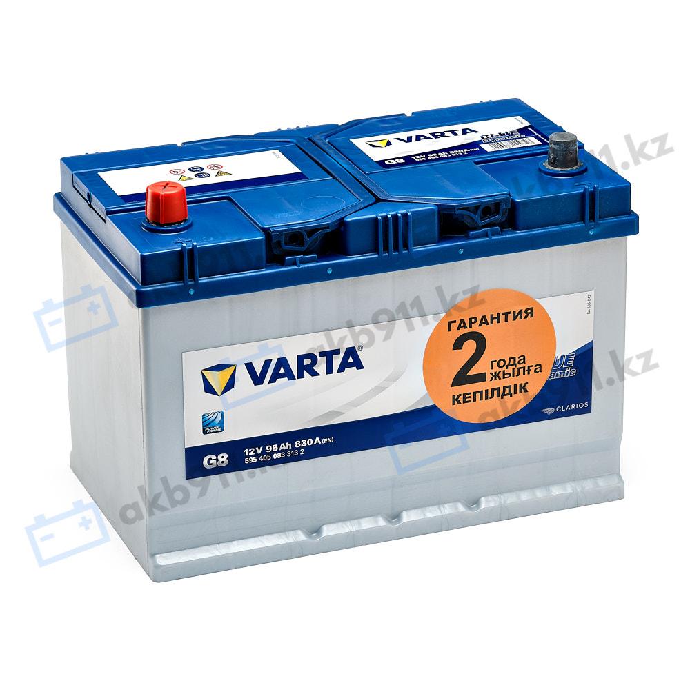 Автомобильный аккумулятор VARTA (Варта) G8 BlUE DYNAMIC 95 Ah 595 405 083