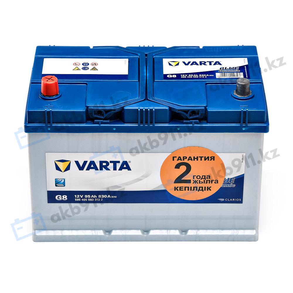 Автомобильный аккумулятор VARTA (Варта) G8 BlUE DYNAMIC 95 Ah 595 405 083 в Алматы