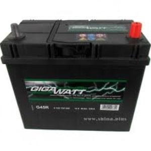 Автомобильный аккумулятор GIGAWATT (Гигаватт) 45 Ah 545155 G45R