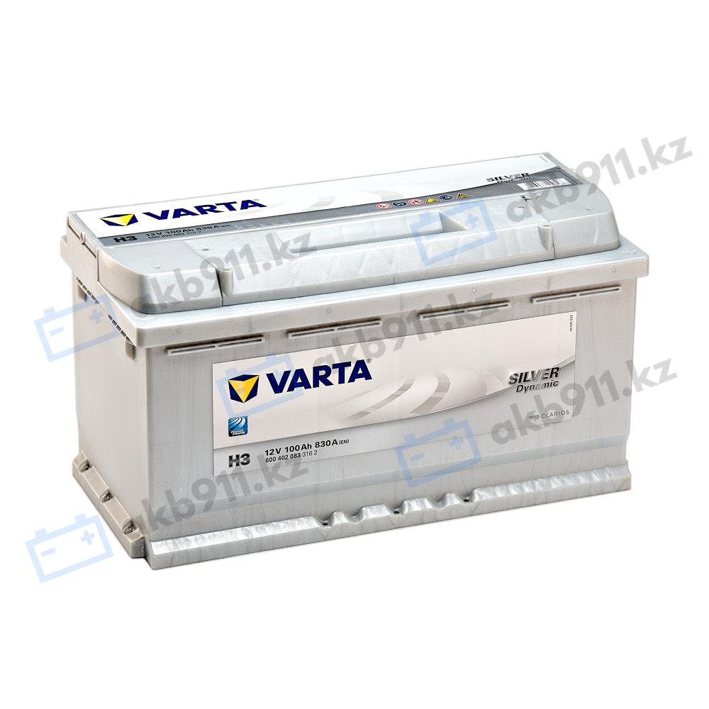Автомобильный аккумулятор VARTA (Варта) H3 SILVER DYNAMIC 100Ah 60002-07