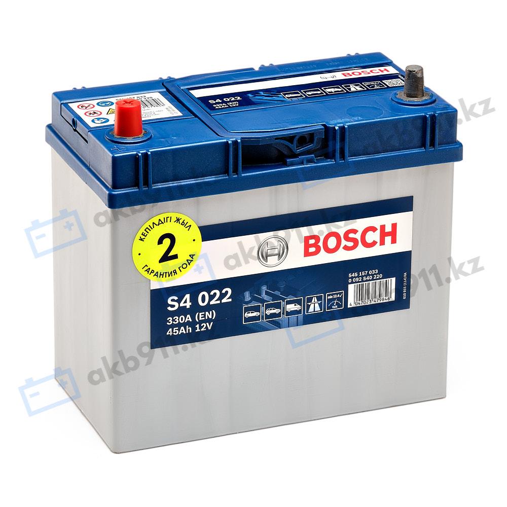 Автомобильный аккумулятор BOSCH (Бош) S4 022 45Ah 545157
