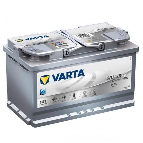 Автомобильный аккумулятор VARTA (Варта) F21 SILVER DYNAMIC 80Ah AGM 580 901 080