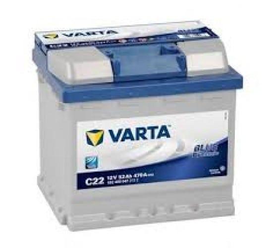 Автомобильный аккумулятор VARTA (Варта) C22 BLUE DYNAMIC 52 Ah BD 552 400 047